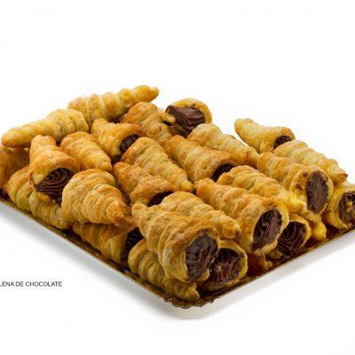 Caracolas rellenas de chocolate o crema dulces caseros Cuenca Málaga