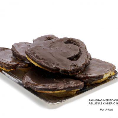 Palmeras medianas rellenas Kinder o Nutella dulces caseros Cuenca Málaga