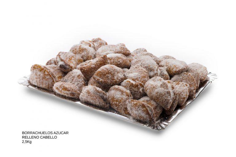 borrachuelos de azucar rellenos cabello de ángel dulces caseros Cuenca Málaga