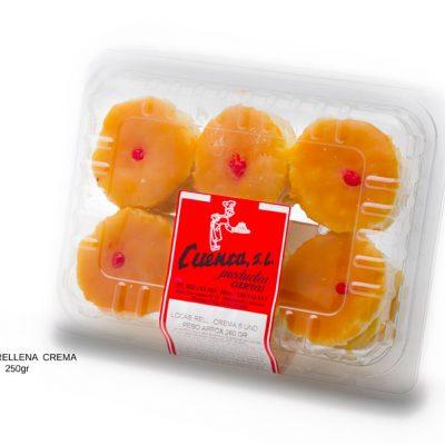 locas rellenas crema blister dulces caseros Cuenca Málaga