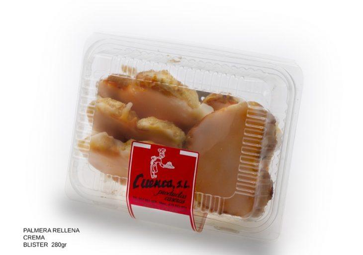 palmera rellena crema blister dulces caseros Cuenca Málaga