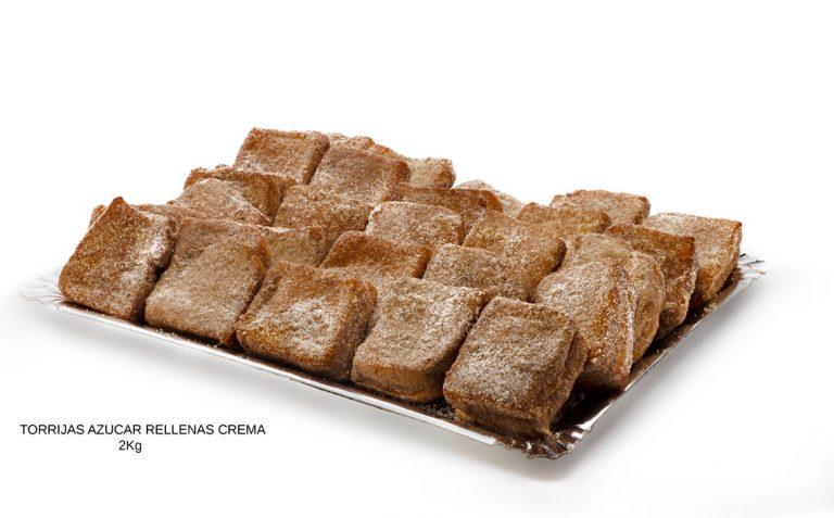 torrijas azucar rellenas de crema dulces caseros Cuenca Málaga