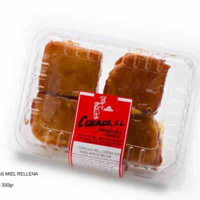 torrijas de miel rellena crema blister dulces caseros Cuenca Málaga